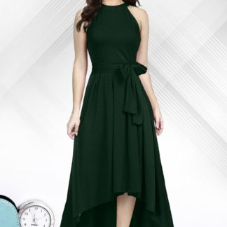 Awesome Green Colored Rayon Designer Ready Made One Piece