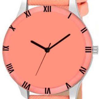 Stunning orange Color PU leather Belt Womens Watch