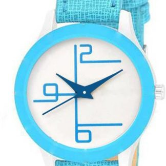 Staggering firozi Color PU leather Belt Ladies Watch