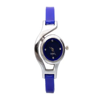 Notable Royal blue Color PU leather Belt Girls Watch