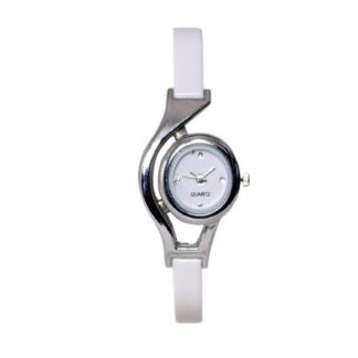 Miraculous white Color PU leather Belt Womens Watch