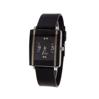 Marvellous black Color PU leather Belt Womens Watch