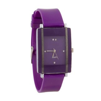 Incredible purple Color PU leather Belt Womens Watch