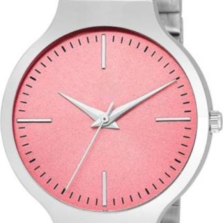 Unusual pink Color metal Belt Girls Watch