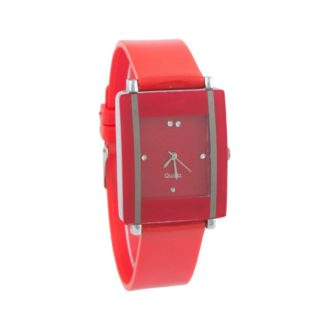 Impressive red Color PU leather Belt Girls Watch