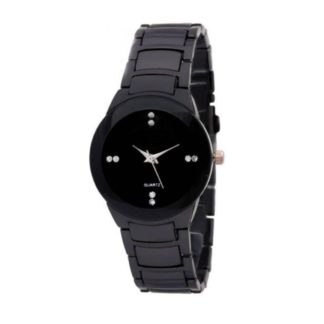 Exciting black Color metal Belt Girls Watch