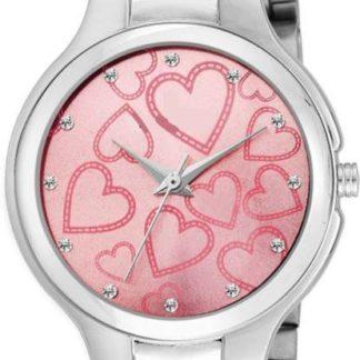 Unreal pink Color metal Belt Ladies Watch