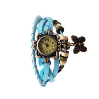 Astounding firozi Color PU leather Belt Girls Watch