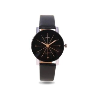 Astounding black Color PU leather Belt Womens Watch