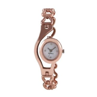 Astonishing rose gold Color metal Belt Ladies Watch