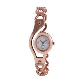 Astonishing rose gold Color metal Belt Ladies Watch
