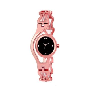 Amazing rose pink Color metal Belt Ladies Watch