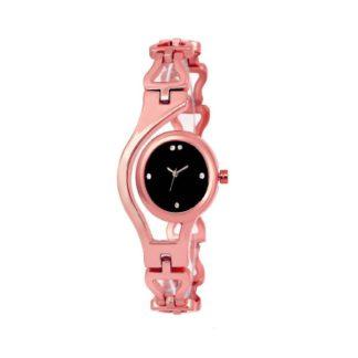 Amazing rose pink Color metal Belt Ladies Watch