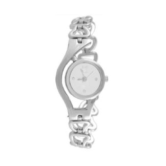 Amazeballs silver white Color metal Belt Womens Watch