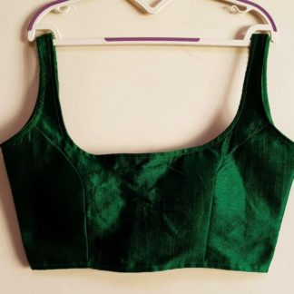 Pulchritudinous Dark Green Phantom Silk Ready Made Blouse