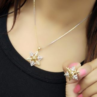 Comely White Diamond Gold Plated Imitation Necklace Design Set