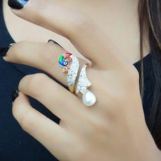Exquisite Multi Colored Diamond Imitation Ring
