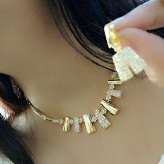 Fabulous Wonderful Golden Sleek Imitation Necklace Set Online