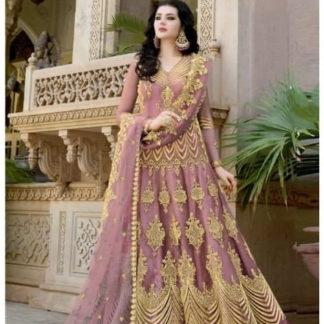 Ravishing Pink Net With Diamond Embroidered Work Anarkali New Salwar suit design online