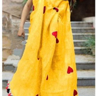 Bewitching Yellow Chanderi Silk With Embroidered Saree Designer Saree