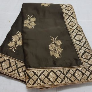 Wedding Wear Jazzy Chocolate Colored silk sarees online onlineshopping store in India