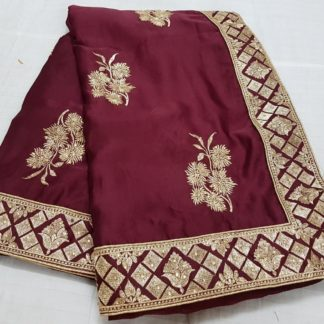 Function Wear Pretty Maroon Colored silk sarees online onlineshopping store in India