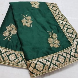 Womens Wear Dark Green Colored silk sarees online onlineshopping store in India