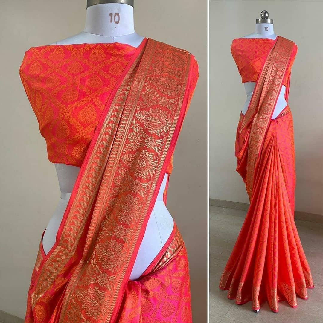 SANA SILK SAREE WITH JACQUARD BORDER NAVYBLUE FASHION DESIGNER PARTY WEAR OCCASSION DESIGNER SAREE ONLINE SHOPPING IN INDIA