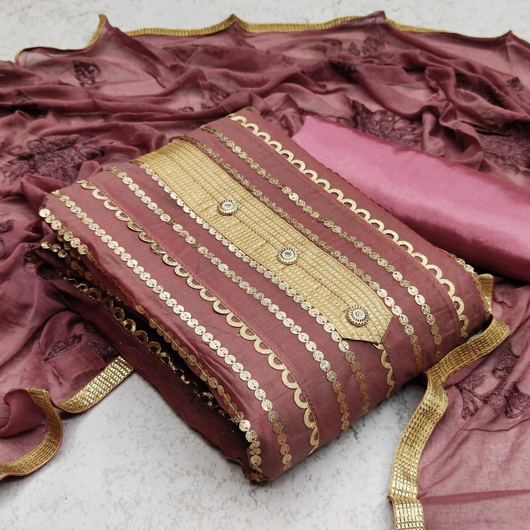 WONDERFUL DESIGNER FASHION Exclusive Designer Dress SEMIMODAL Material Suit For Fashion ONLINE SHOPPING IN INDIA